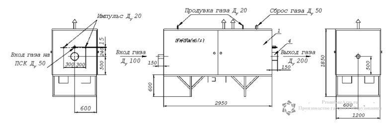 чертеж УГРШ-100Н-2, УГРШ-100В-2