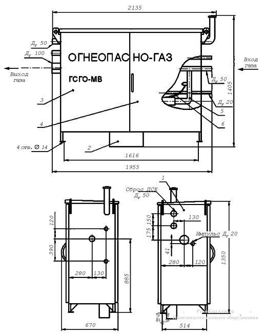 Чертеж ГСГО МВ 00, 01, 02, 03, 04, 05, 06