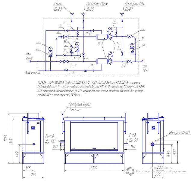 схема ГРПШ-02-2У1,