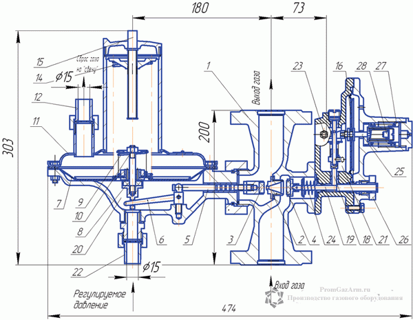 Регуляторы давления газа РДУ-32/С