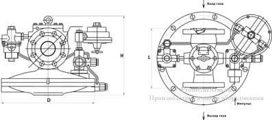 Регулятор давления РДБК1М-100-70