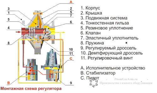 Устройство и монтажная схема
