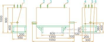 Габаритная схема ГРУ(ШРП)-400-01