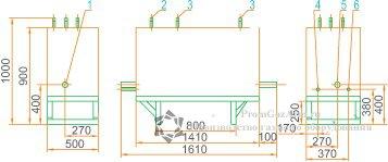 Габаритная схема ГРУ(ШРП)-03М1-У1