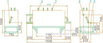 Габаритная схема ГРУ(ШРП)-13-1В-У1