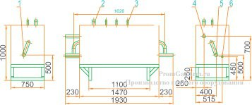 Габаритная схема ГРУ(ШРП)-13-1Н-У1