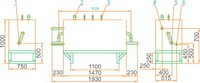 Газорегуляторная установка ГРУ(ШРП)-100 с байпасом, регулятор давления газа РДБК1-100