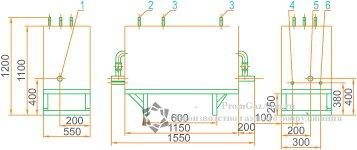 Габаритная схема ГРУ(ШРП)-03М2-2У1