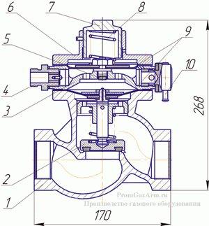 Схема клапана ПКК-40 М №1