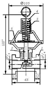 Клапан предохранительный сбросной КПС-20 схема, спецификация