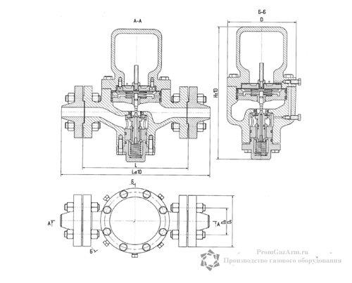 Общий вид и габаритные размеры РД-80 Ду 25, 40 мм