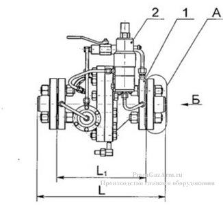 Общий вид и габаритные размеры РДУ-Т схема1