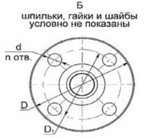 Присоединительные размеры фланца РДУ-Т вид2