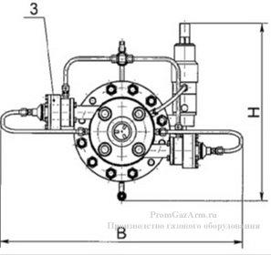 Общий вид и габаритные размеры РДУ-Т схема2