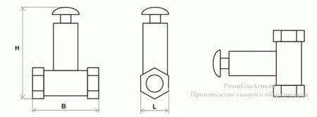 Схема клапана КЭГ-9720 нормально-открытого